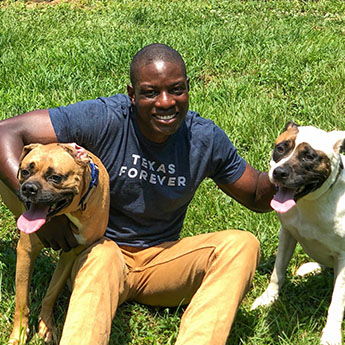 Dr Femi and his dogs